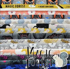 A personal favorite from my Etsy shop https://www.etsy.com/listing/513417582/preorder-magic-forest-fat-quarter-bundle