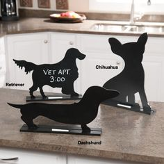 Dog Silhouette Table Chalkboard|Gifts for Dog Lovers