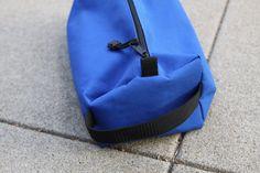 Electric blue nylon toiletry bag. Unisex. by czqqq on Etsy