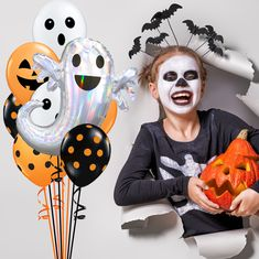 """Giant 35/"""" Witch on Broomstick Foil Balloon Halloween Party Decoration Air//Helium"""