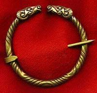 The penannular, cloak pin, or open ring brooch, was a Roman and Celtic type of clothing fastener.
