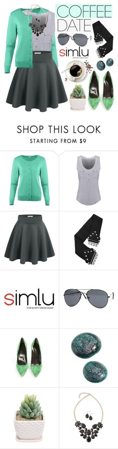 """Buzz-Worthy: Coffee Date"" by simlu-clothing ❤ liked on Polyvore featuring Roger Vivier and CoffeeDate"