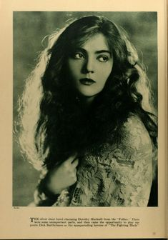 1923 portrait of Dorothy Mackaill from 'Photoplay' magazine.