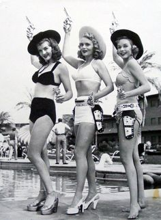 vixensandmonsters:  Corinne Calvet with Marie Wilson and Diana Lynn 1950