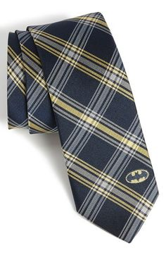 DC Comics Batman Plaid Tie available at #Nordstrom