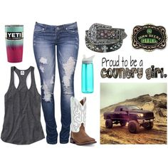 I Was Country When Country Wasn't Cool by im-a-jeans-and-boots-kinda-girl on Polyvore featuring polyvore, fashion, style, Victoria's Secret, Laredo, CamelBak, John Deere, Diesel, country and clothing