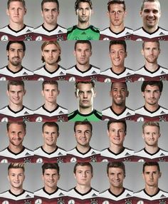 Faces of the German National Side-- World Cup Winners 2014