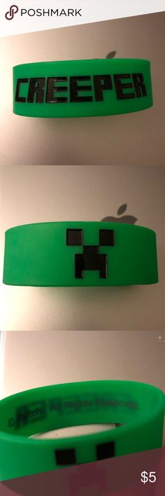 Minecraft bracelet Creeper from Minecraft bracelet from hot topic. Hot Topic Accessories