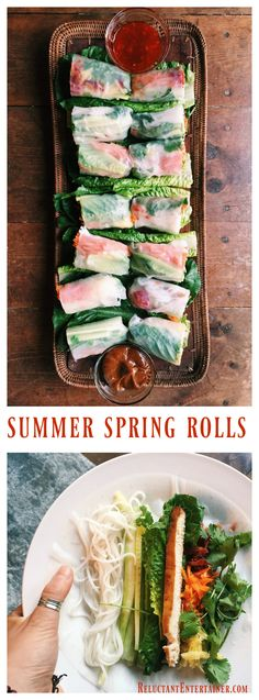 Summer Spring Rolls at ReluctantEntertainer.com