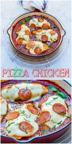 This Pizza Baked Chicken Makes Clean Eating a BLAST! - Clean Food Crush
