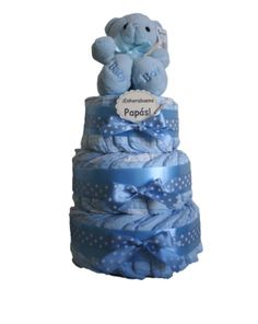 Html, Smurfs, Children, Cake, Character, Baby Gifts, Nappy Cake, Kids, Pies
