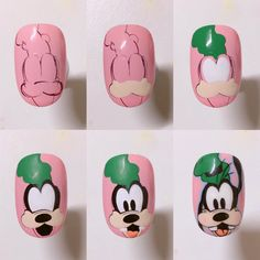 Subtle Nails, Shiny Nails, Rose Nail Art, Rose Nails, Disney Nail Designs, Nail Art Designs, Alice In Wonderland Nails, Nail Drawing, Nail Art For Kids