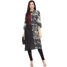 Embroidered Women\'s Long Straight Cotton Kurta
