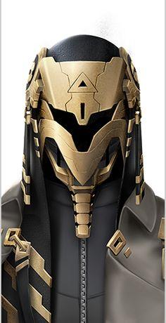 Een modern Egyptisch farao masker met veel details