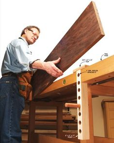 Adjustable Board Support - Woodworking Shop - American Woodworker #woodworkingbench