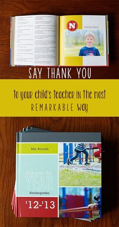 Teacher Thank You - End of Year Gift ~Would be cute to do a child's yearbook every year of school with questions for each kid and great photos. Better than a couple of photos of your kid in B&W. Other kids could order it too. Teacher End Of Year, End Of School Year, Your Teacher, School Teacher, School Fun, Teacher Gifts, Teacher Retirement Gifts, Sunday School, School Ideas
