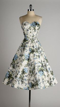 vintage 1950s dress . strapless polished by millstreetvintage