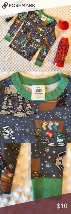 ❄️Hanna Andersson Star Wars Pajama Top Disney Soft Star Wars top (only) in 110 or size 5. Good condition some fading with wash wear. Has one small spot pictured on sleeve. Thanks for looking! Hanna Andersson Pajamas Pajama Tops
