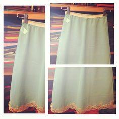 Adorable Minty Vintage Slip @storytaleshop- #webstagram  http://storytaleshop.blogspot.com/