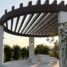Al Bidda Park - Qatar with outdoor furniture made in Italy by Bellitalia Urban Furniture, Street Furniture, Furniture Making, Outdoor Furniture, Flower Boxes, Flowers, Beautiful Homes, Pergola, Outdoor Structures