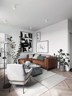 Modern Scandinavian Interior, Interior Design Themes, Scandinavian Interior Design, Modern Interior Design, Nordic Design, Modern Apartment Design, Swedish Interiors, Scandinavian Living, Classic Interior