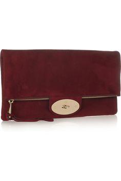 d78559d99c Mulberry - Oversized Postman s Lock suede clutch