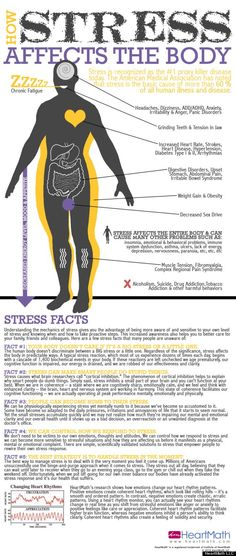 INFOGRAPHIC: How Stress Affects the Body via @Laura Jayson F. Huff Post Healthy Living | Stressed? Click the photo for ways to relieve stress!