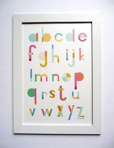 Affiche pour chambre d'enfant avec prénom par mademoiselleyo