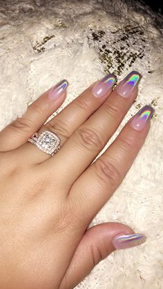 Nails On 10 Holographic Chrome Ombr 233 Nail Swag Pinterest Nails Nail Designs And