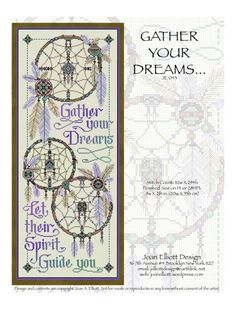 Check out Gather Your Dreams and more exclusive items at Robin's Nest Designs now. Cross stitch chart by Joan Elliott Hardanger Embroidery, Cross Stitch Embroidery, Cross Stitch Patterns, Firefighter Cross, Dream Catcher Patterns, Diy Bookmarks, Nativity Crafts, Diy Sewing Projects, Sewing Crafts