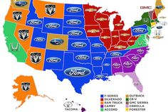 The Best-Selling Vehicle in Each State | Mental Floss