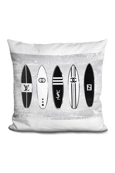 "Surf Boards Pillow - Multi - 16"" X 16"" by Lilipi Brand on @HauteLook"