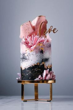 unique wedding cakes, wedding cake designs best wedding cakes, unique wedding cake design wedding cake ideas, best wedding cake marble wedding cake, beautiful wedding cakes Cake These Wedding Cakes Are Incredibly Stunning - Fabmood Pretty Wedding Cakes, Beautiful Birthday Cakes, Black Wedding Cakes, Unique Wedding Cakes, Unique Cakes, Elegant Cakes, Gorgeous Cakes, Wedding Cake Designs, Pretty Cakes