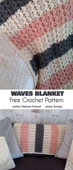 17 Ideas crochet afghan patterns ripple projects for 2019 Crochet Geek, Knit Or Crochet, Baby Blanket Crochet, Crochet Crafts, Single Crochet, Crochet Hooks, Crochet Baby, Crochet Projects, Free Crochet