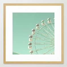 Carnival and Mint Sky Framed Art Print