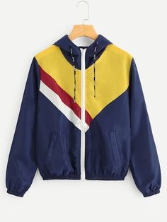 Jackets & Coats Jackets Fashion Men Patchwork Windbreaker Jacket Dye Blue Pink Block Chinese Letter Printed Hood Hip Pop Trench Raglan Sleeve Neon Blue To Enjoy High Reputation At Home And Abroad