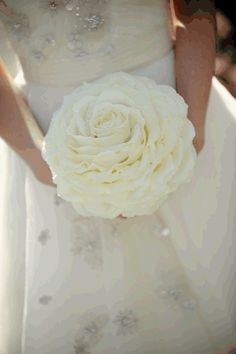 """Glamelia Bouquet - it's a """"composite"""" bouquet made of individual petals to look like one giant flower, cool!"""