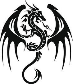 Dragon Tattoo is one of the most popular mystical tattoos. Like most other mythological tattoos, dragon tattoos are perceived in different ways by different cultures around the world. Dragon Tattoo Vector, Tribal Dragon Tattoos, Celtic Dragon Tattoos, Dragon Tattoo Designs, Eagle Tattoos, Tatoo Art, Body Art Tattoos, Tattoo Drawings, Cool Tattoos