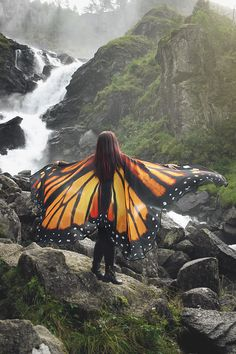 Halloween Costumes – Butterfly wings Monarch cape costume adult Fairy – a unique product by CostureroReal on DaWanda