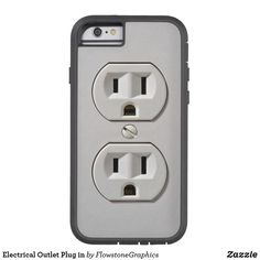 Electrical Outlet Plug in Tough Xtreme iPhone 6 Case Custom Iphone Cases, Iphone 6 Cases, Cell Phone Covers, Electrical Outlets, Apple Iphone 6, Gifts For Dad, Plugs, Geek Stuff, Geeks