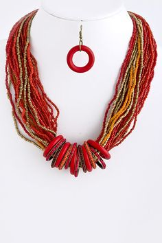 DivaByDzine - Red Bead Necklace Set, $20.00 (http://www.divabydzine.com/red-bead-necklace-set/)