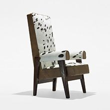 LE CORBUSIER AND PIERRE JEANNERET  Judge's armchair from the High Court, Chandigarh.