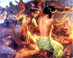 Burning of pagan idols,the rise of catholicism in the philippines Filipino Art, Filipino Culture, Value Painting, Philippine Art, Indonesian Art, Flash Photography, Great Words, Reading Skills, Artists Like