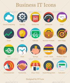 Here's a cool Modern Flat Business Icon-set you might find useful for your next creative project.