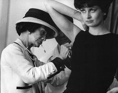 Coco Chanel at work.