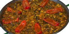 Receta del estupendo arroz de magro y verduras tradicional de Alicante y alrededores.