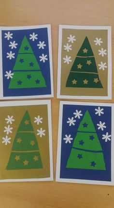 Christmas Art, Winter Christmas, Kids And Parenting, Artsy Fartsy, Art Lessons, Advent, Activities For Kids, Decoupage, Kindergarten