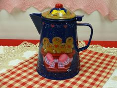 Vintage Style Hand Painted Gingerbread Coffee Pot. $26.50, via Etsy.