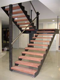 Staircase - Steel frame - Wooden Treads