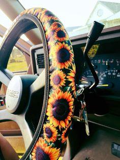 The Sun City Sunflower Steering Wheel Cover car accessories Sunflower Accessories, Car Accessories For Girls, Truck Accessories, Jeep Wheel Covers, Steering Wheel Covers, Car Covers, Jeep Wheels, Bug Car, Car Essentials